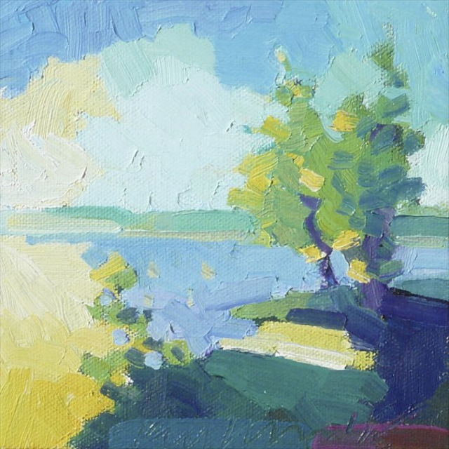 "Henry Isaacs | Back Cove #3 | Oil | 6"" X 6"" 