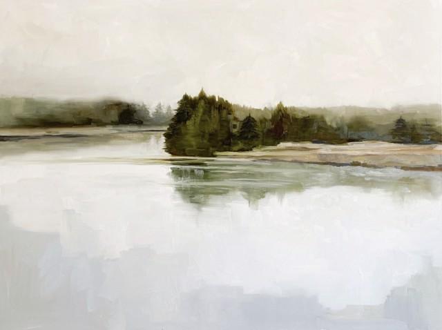 "Jill Matthews | Calm Cove | Oil on Canvas | 36"" X 48"" | Sold"