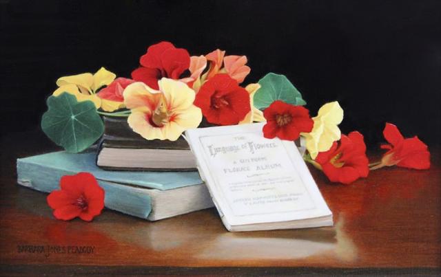 "Barbara Jones Peabody | The Language of Flowers | Oil | 6"" X 9"" | $1,250.00"