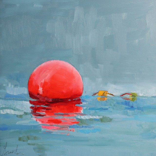 "Ellen Welch Granter | Float Two | Oil on Panel | 12"" X 12"" 