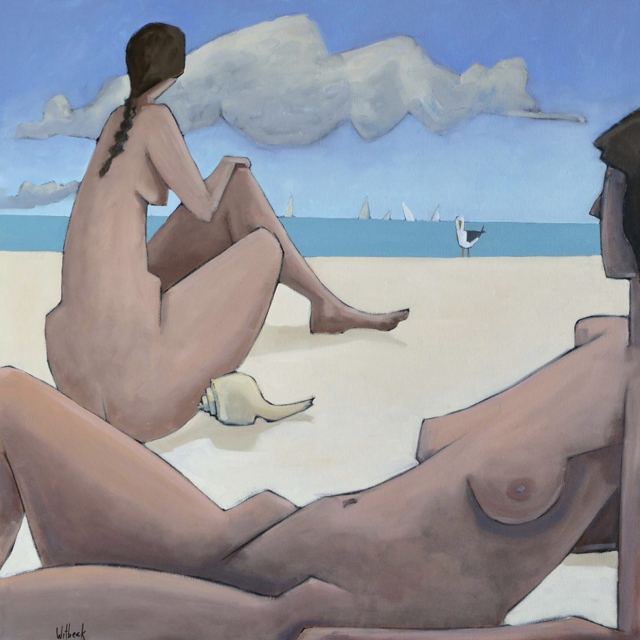 "David Witbeck | Sirens II | Oil on Canvas | 40"" X 40"" 