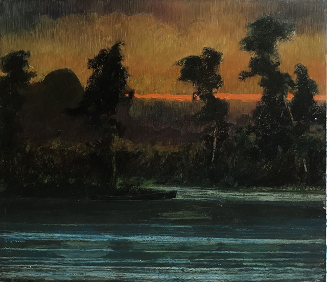 Twilight, River