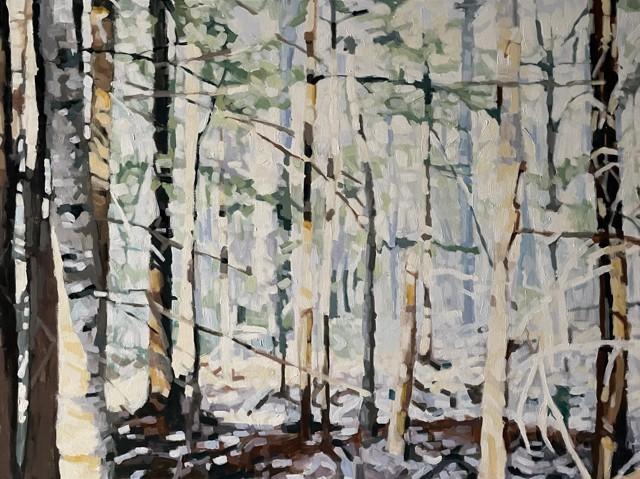"Liz Hoag | Pale Summer Woods | Acrylic on Canvas | 30"" X 40"" | Sold"