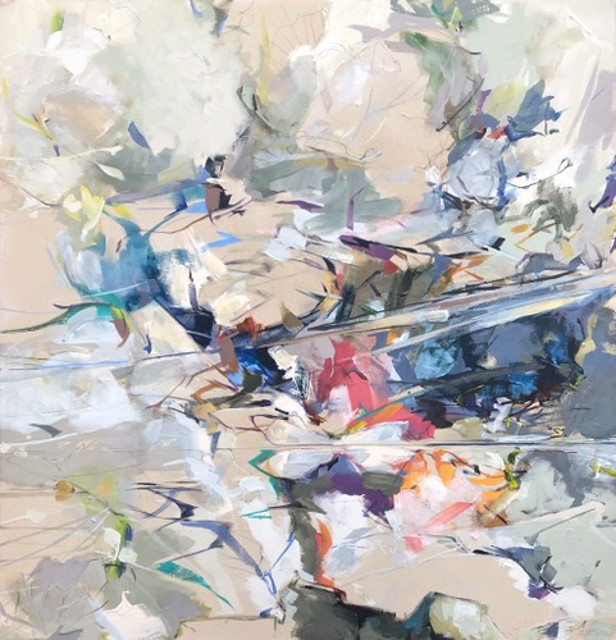 "Jeffrey T. Fitzgerald | I Fathom | Acrylic on Canvas | 46"" X 44"" | Sold"