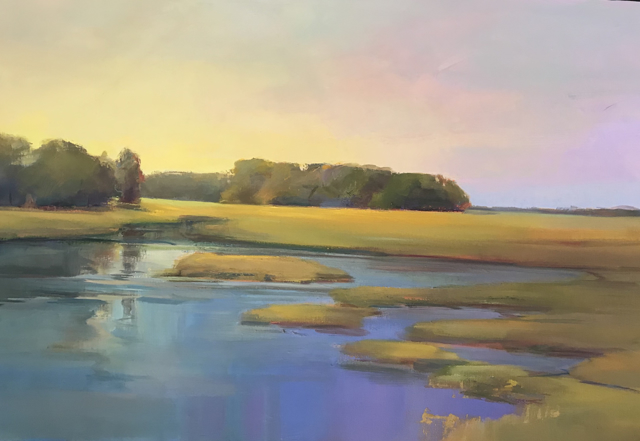 "Holly Ready | Late Summer Yellows | Oil on Canvas | 24"" X 36"" 