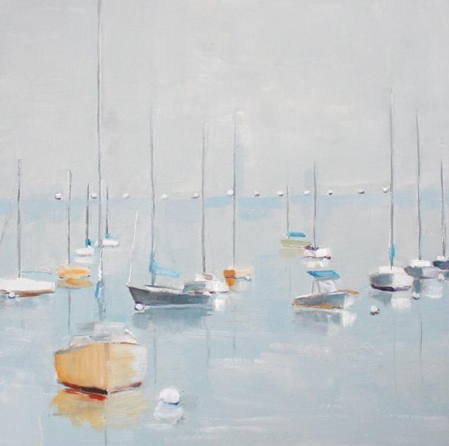 "Ellen Welch Granter | Galaxy | Oil on Panel | 12"" X 12"" | Sold"