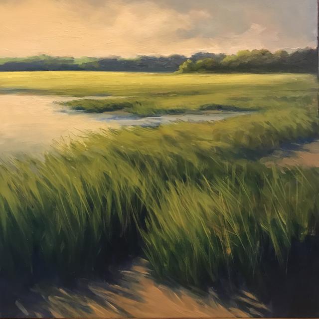 Marsh Along the Sand