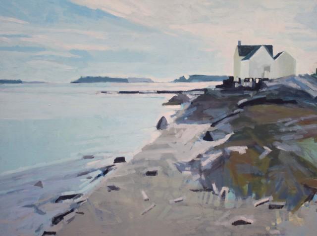 "Liz Hoag | Willard Beach | Acrylic on Canvas | 30"" X 40"" | Sold"