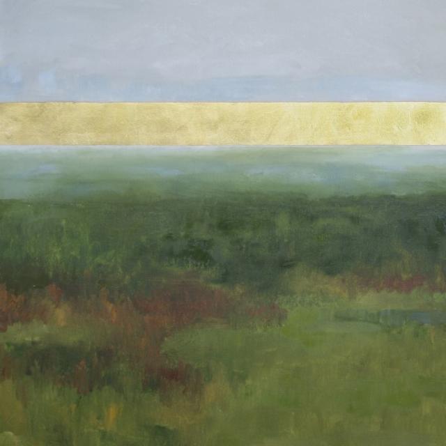 "Ellen Welch Granter | Gold Ocean No. 20 | Oil / Leaf on Canvas | 30"" X 30"" | $3,000.00"