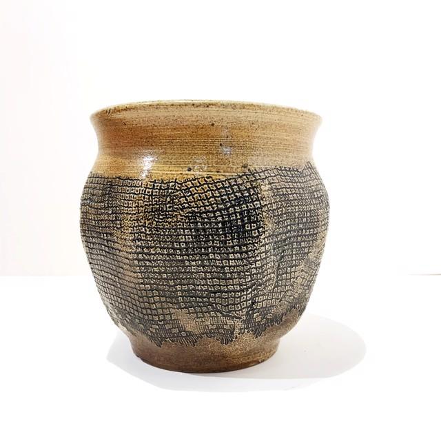 "Richard Winslow | Honey Grid Pot | Ceramic | 7.5"" X 8.5"" | $125.00"