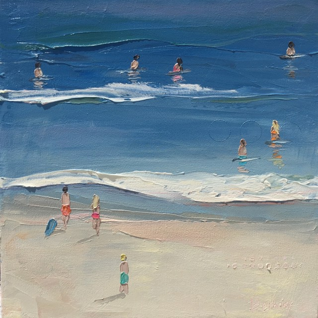 "Bethany Harper Williams | The Ocean Calls | Oil | 16"" X 16"" 