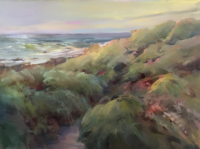 "Holly Ready | Ocean Walk | Oil on Canvas | 30"" X 40"" 