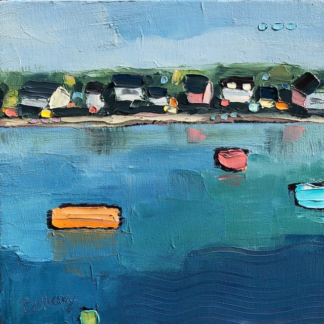 "Bethany Harper Williams | Boats Afloat | Oil on Canvas | 12"" X 12"" 