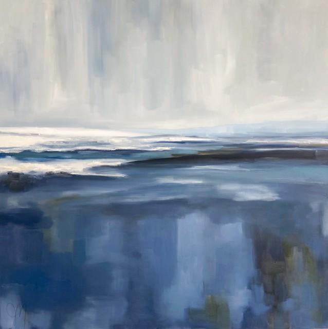 "Jill Matthews | Water Study | Oil on Canvas | 36"" X 36"" | Sold"