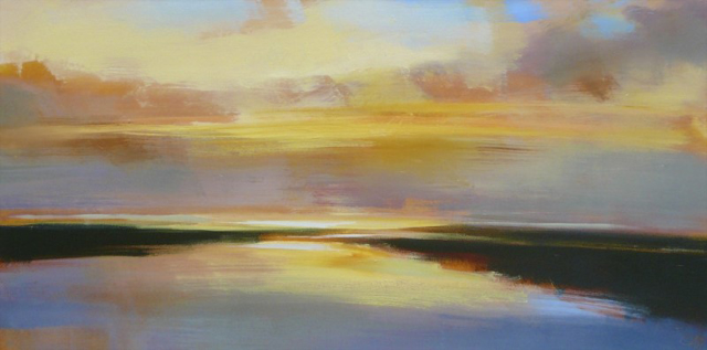 "Craig Mooney | Gentle Current | Oil | 24"" X 48"" | Sold"