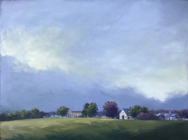"Margaret Gerding | Laudholm Farm | Oil on Panel | 36"" X 48"" 
