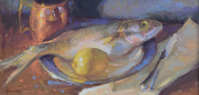 Bluefish and Lemon