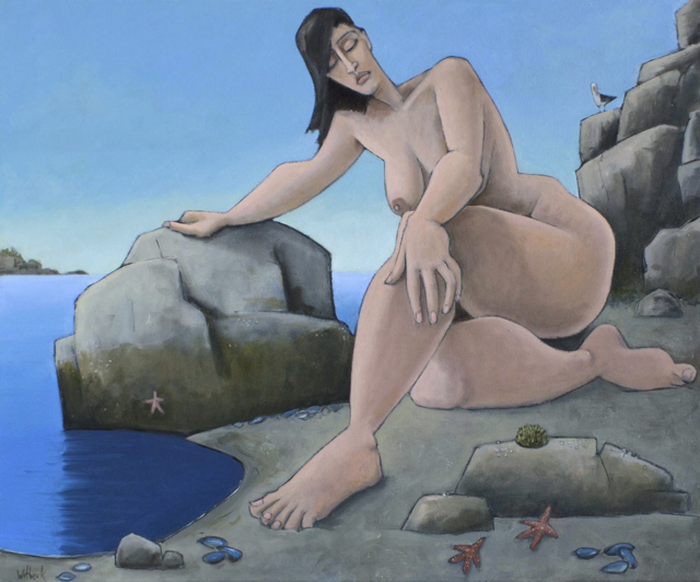 "David Witbeck | Thetis | Oil on Canvas | 30"" X 36"" 