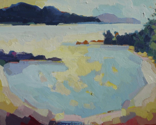 "Henry Isaacs | Bunker's Cove | Oil on Canvas | 16"" X 20"" 