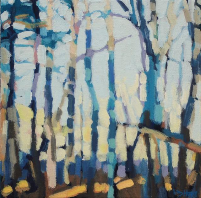 "Liz Hoag | In the Shade | Acrylic on Canvas | 10"" X 10"" | Sold"