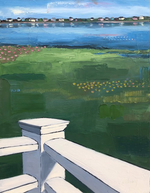 "Bethany Harper Williams | Off the Back Deck | Oil on Canvas | 28"" X 22"" 