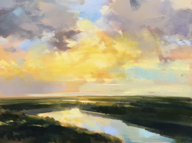 "Craig Mooney | Low Tide Mist | Oil | 30"" X 40"" | Sold"