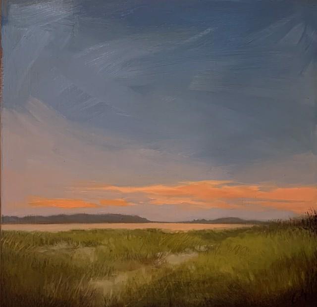 """Margaret Gerding   Maine Moments - Day 4   Oil on Panel   10"""" X 10""""   $1,200.00"""