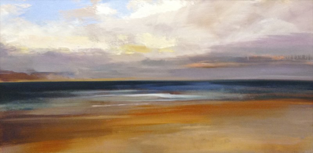 "Craig Mooney | Quiet Sea | Oil | 24"" X 48"" 