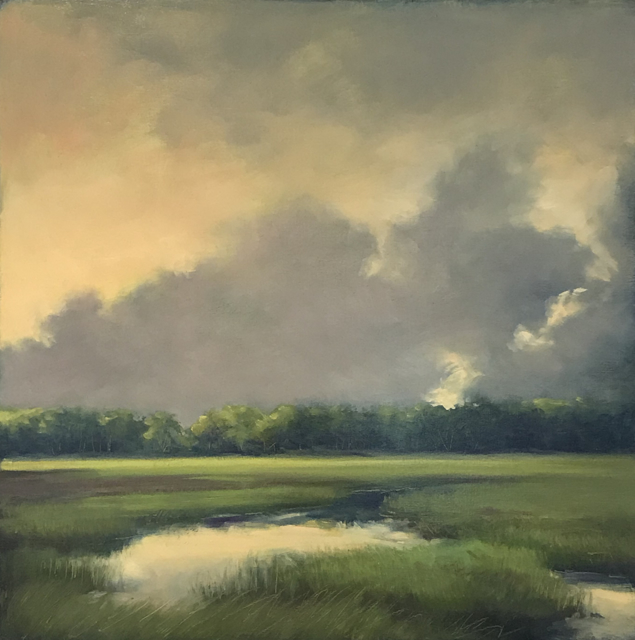 "Margaret Gerding | Golden Light | Oil on Panel | 18"" X 18"" 