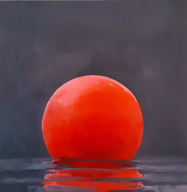 "Ellen Welch Granter | Red Planet | Oil on Canvas | 20"" X 20"" 