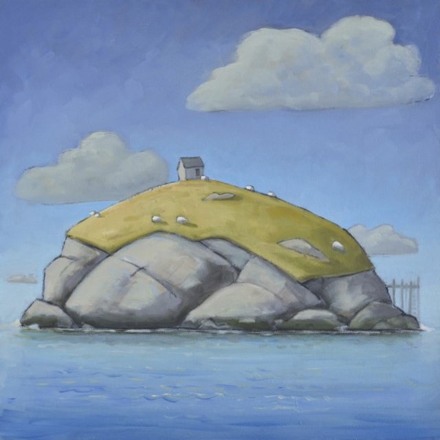 "David Witbeck | Sheep Island | Oil on Canvas | 24"" X 24"" 