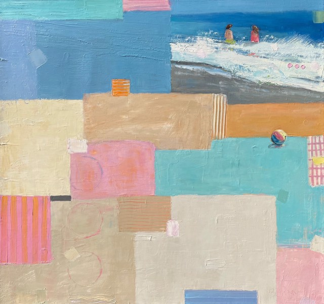 """Bethany Harper Williams   Take me to the Beach   Oil on Canvas   40"""" X 42""""   $3,700.00"""