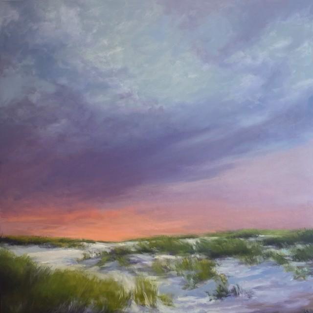 """Margaret Gerding   Sunrise   Oil on Canvas   40"""" X 40""""   Sold"""
