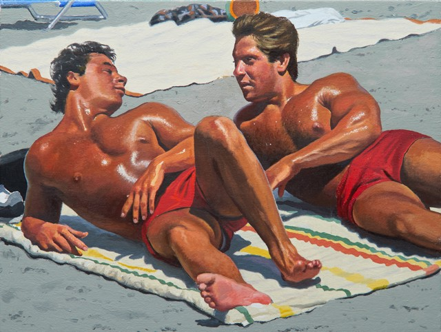 "William B. Hoyt | Boys of Summer | Oil on Canvas Stretched on Panel | 12"" X 16"" 