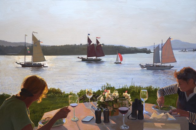 "William B. Hoyt | Dining Alfresco | Oil | 20"" X 30"" 