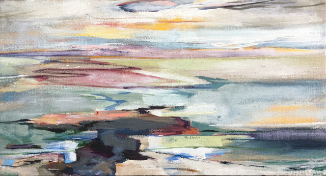 "Jeffrey T. Fitzgerald | Someday Soon | Acrylic | 12"" X 22"" 
