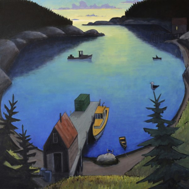 "David Witbeck | Harbor Sunrise | Oil | 36"" X 36"" 