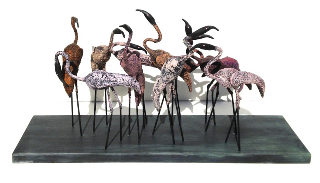Set of 11 Flamingos