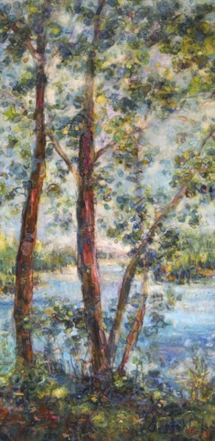 "Susan Wahlrab   Seaside   Varnished Watercolor on Archival Claybord   16"" X 8""   $1,400.00"