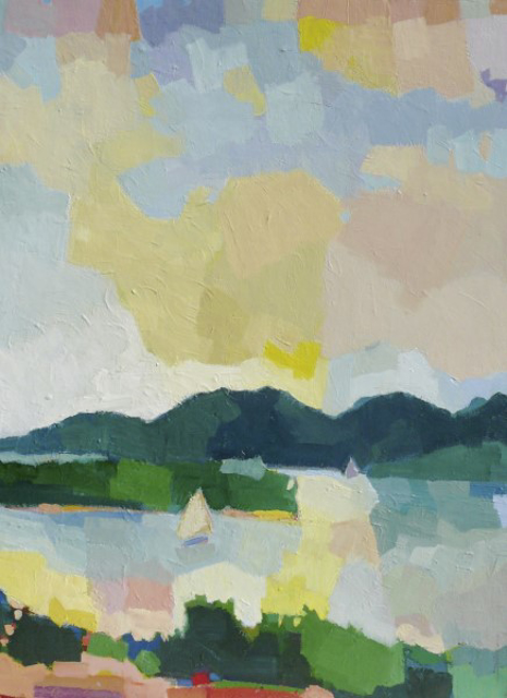 "Henry Isaacs | View from the North Shore | Oil on Linen | 40"" X 30"" 