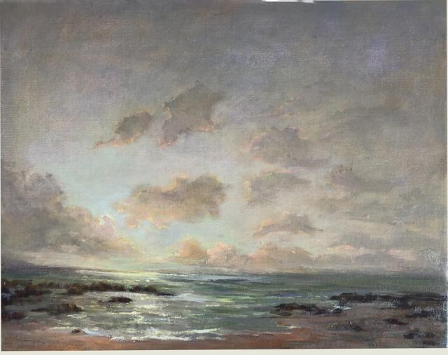 "Julie Houck | Last Light, North Shore | Oil on Linen | 16"" X 20"" | $1,800.00"