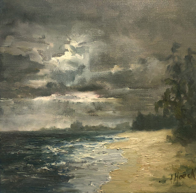 "Julie Houck | Storm | Oil on Linen | 12"" X 12"" 