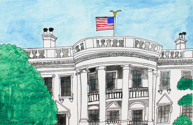 The White House (FRAMED)