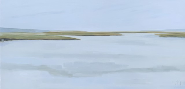 "Jill Matthews | Fog Bear Parsons | Oil on Canvas | 24"" X 48"" | Sold"