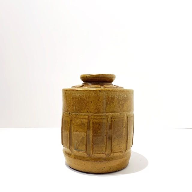 "Richard Winslow | Honey Lidded Pot | Ceramic | 7"" X 5.5"" | $80.00"