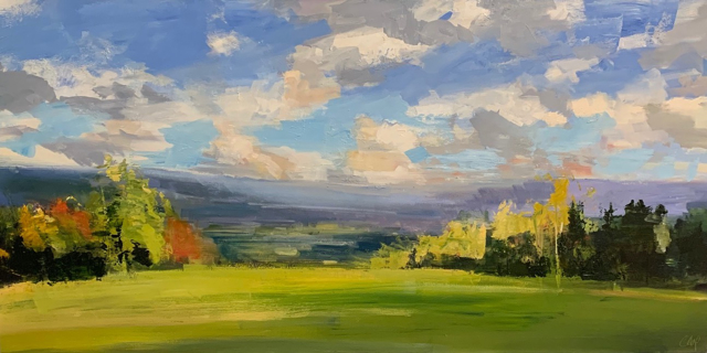 "Craig Mooney | High Meadows | Oil on Canvas | 24"" X 48"" 