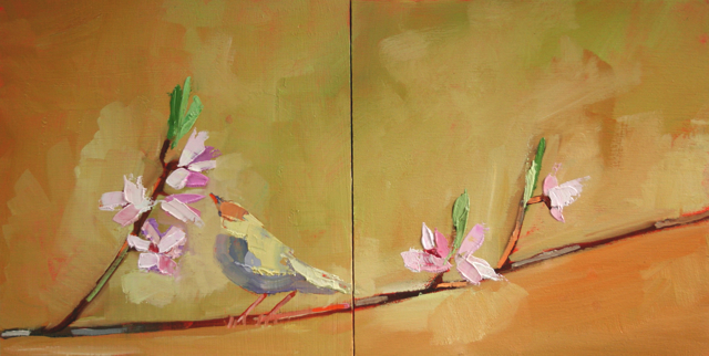 "Claire Bigbee | Soul Inspiration - Diptych | Oil | 8"" X 16"" 