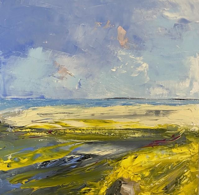 "Janis H. Sanders | Summer Shoreline 5 | Oil on Panel | 12"" X 12"" | Sold"