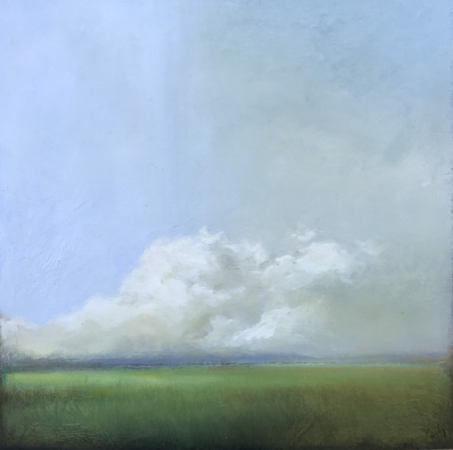 "Margaret Gerding | White Cloud I | Oil on Panel | 16"" X 16"" 