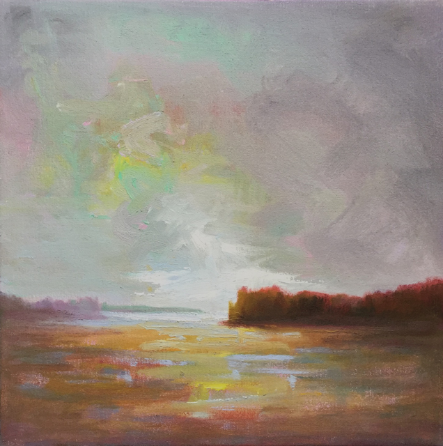 "Julie Houck | Winter Tempest | Oil on Linen | 12"" X 12"" 